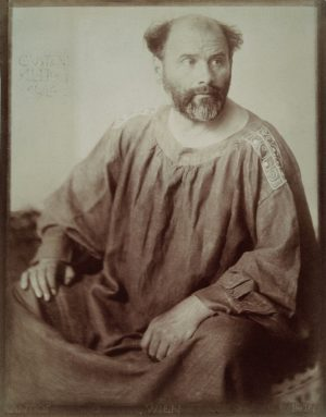 Portrait of Gustav Klimt. Photography by Trcka Josef Anton.